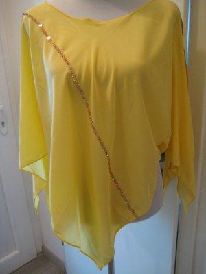 Cape Shirt Tunika Gelb Gold Gr.S/M Asymetrisch