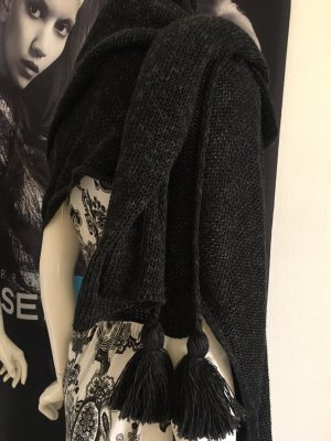 Wenger Austrian Style Knitted Poncho anthracite