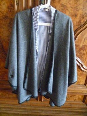 René Lezard Veste oversize gris laine