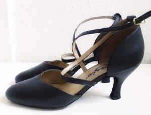 Capezio Tanzschuhe Salsa Tango High Heels Riemchen Leder schwarz 38