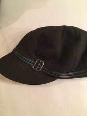 Woolen Hat black brown-dark brown wool