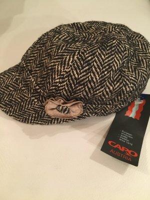 CAPO Schirmmütze, Mütze mit Blume, braun grau weiß, Gr. XL, NEU mit Etikett