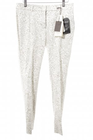 Cappellini Pleated Trousers beige-white floral pattern casual look