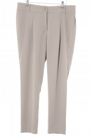 Cappellini Bundfaltenhose graubraun Business-Look