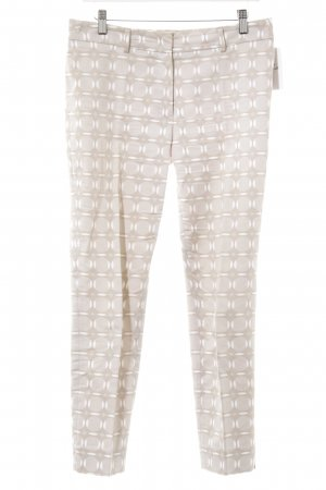 Cappellini Stoffhose beige-wollweiß abstraktes Muster Casual-Look