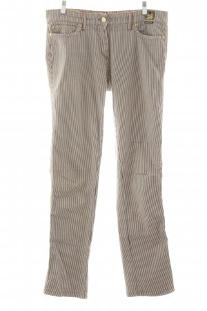 Cappopera Straight Leg Jeans brown-natural white striped pattern casual look