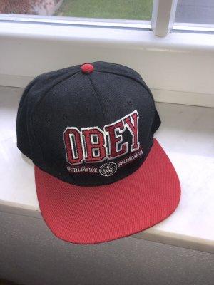Snipes Gorra de béisbol negro-rojo