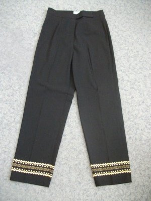 7/8 Length Trousers black-gold-colored