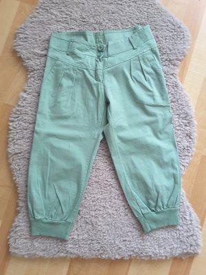 Pantalon capri vert menthe