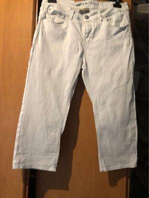 Capris white cotton