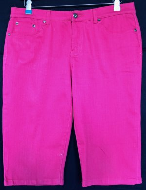 Pantalón capri rosa Algodón