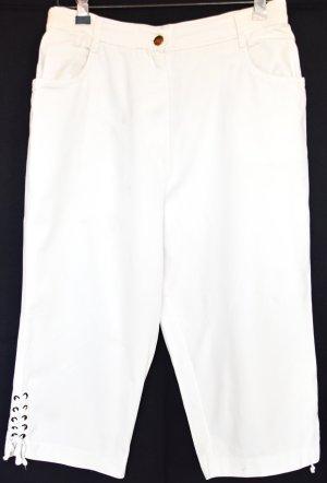 Pantalón capri blanco Algodón