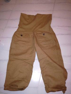 Mango Pantalon capri brun sable