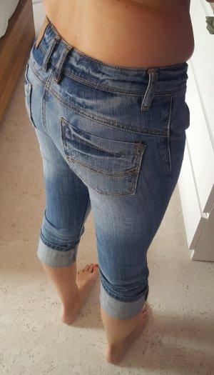 Fishbone Jeans a 7/8 blu