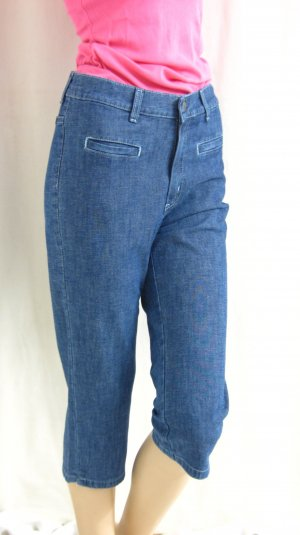 Lee Capris blue cotton