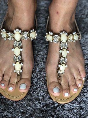 Sandalias de tacón con talón descubierto nude-beige