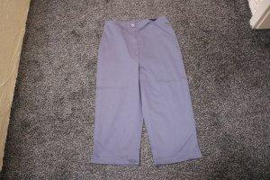 Pantalón capri gris oscuro Algodón