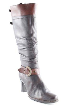 Caprice Absatz Stiefel schwarzbraun-braun klassischer Stil