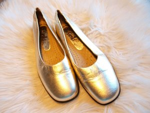 Caprice Ballerinas gold-colored-black leather