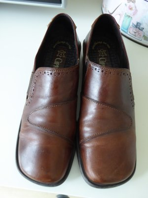 Zapatos sin cordones rojo amarronado Cuero