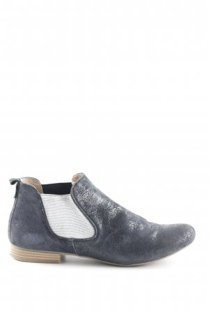 Caprice Chelsea Boots dark blue-silver-colored wet-look