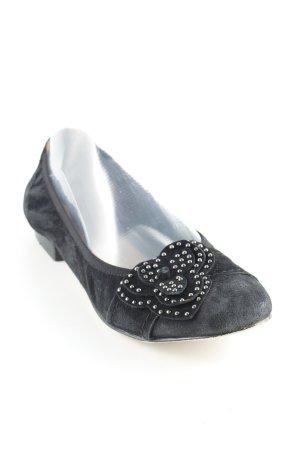 Caprice faltbare Ballerinas schwarz Elegant