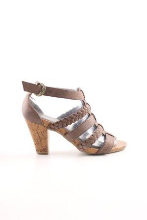 Caprice High Heel Sandaletten braun Casual-Look