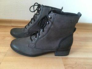 Caprice Leder Boots Stiefel grau 41 (NEU)