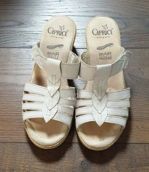 Caprice Comfort Sandals natural white-white leather