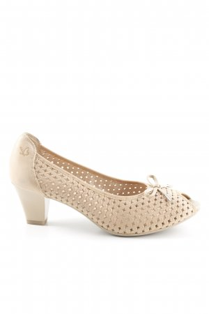 Caprice Peeptoe Pumps beige Casual-Look