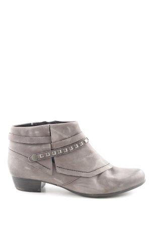 Caprice Reißverschluss-Stiefeletten hellgrau Street-Fashion-Look