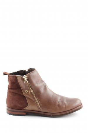 Caprice Zipper Booties brown business style