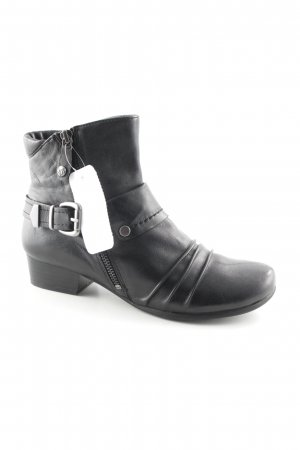 Caprice Reißverschluss-Stiefeletten schwarz Biker-Look