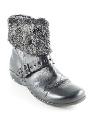 Caprice Reißverschluss-Stiefeletten schwarz-grau Casual-Look