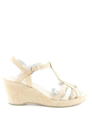 Caprice Riemchen-Sandaletten beige Street-Fashion-Look