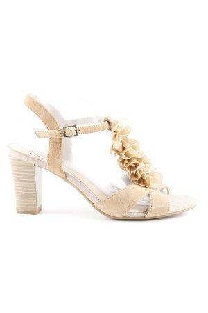Caprice Riemchen-Sandaletten hellbraun Boho-Look