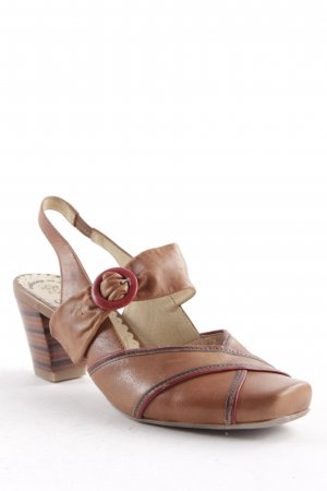 Caprice Riemchen-Sandaletten hellbraun-rot klassischer Stil