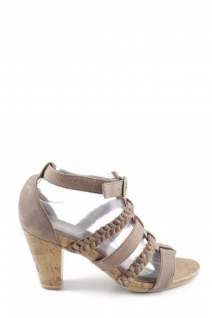Caprice Strapped pumps brown casual look