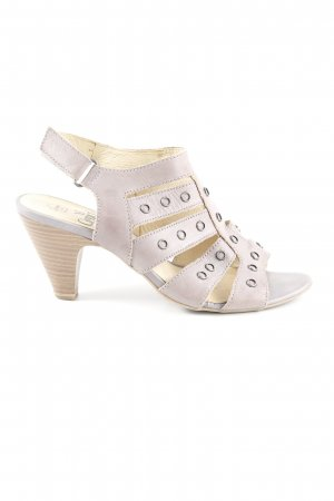 Caprice Strapped pumps mauve casual look