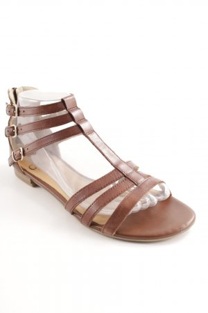 Caprice Sandalias romanas marrón-crema look casual