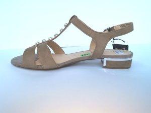 Caprice Outdoor Sandals beige leather