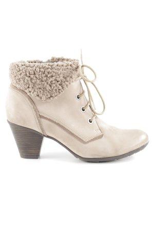 Caprice Schnür-Stiefeletten beige-dunkelbraun Casual-Look