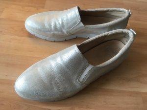Caprice Schuh Sommer Gold Silber Echtleder 41 (NEU)