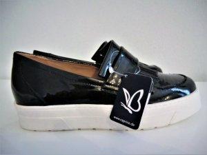 Caprice Mocassins noir faux cuir