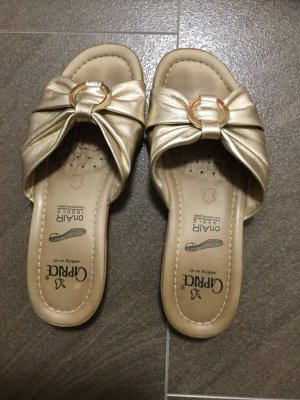 Caprice Comfort Sandals gold-colored