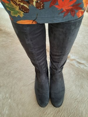 Caprice Stretch Boots dark grey