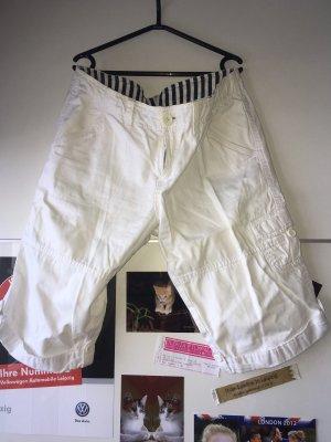 Pantalón capri blanco-blanco puro