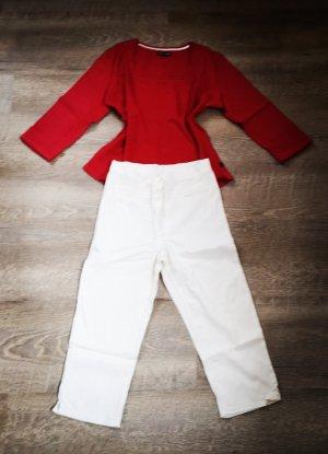 Pantalón capri blanco