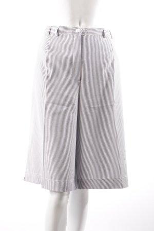 Pantalon capri blanc-bleu azur