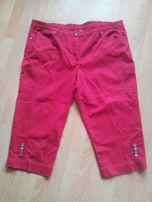 Pantalon capri rouge-rouge brique